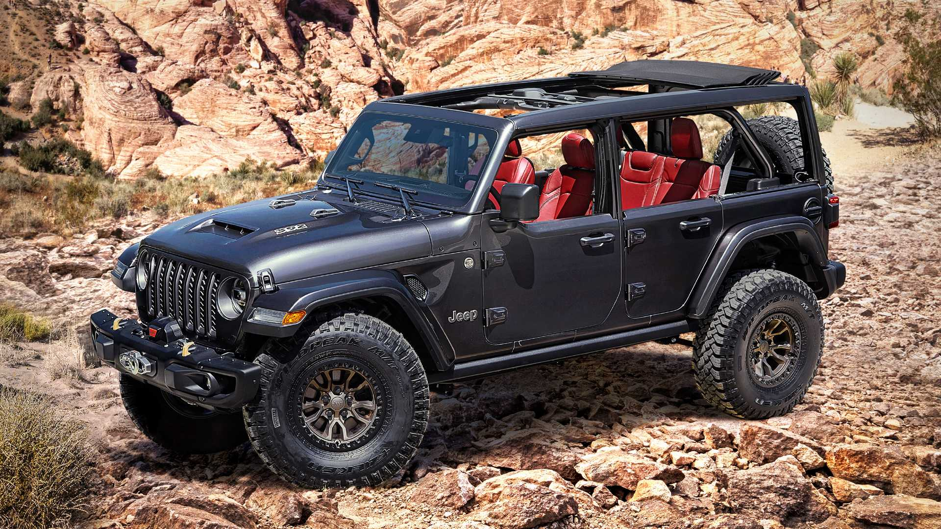 V8-POWERED JEEP WRANGLER RUBICON 392 CONCEPT REVEALED ON BRONCO'S BIG DAY